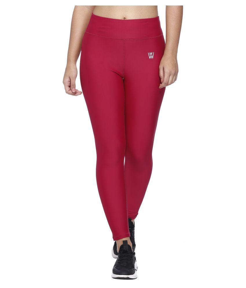 Vixenwrap Red Nylon Solid Tights