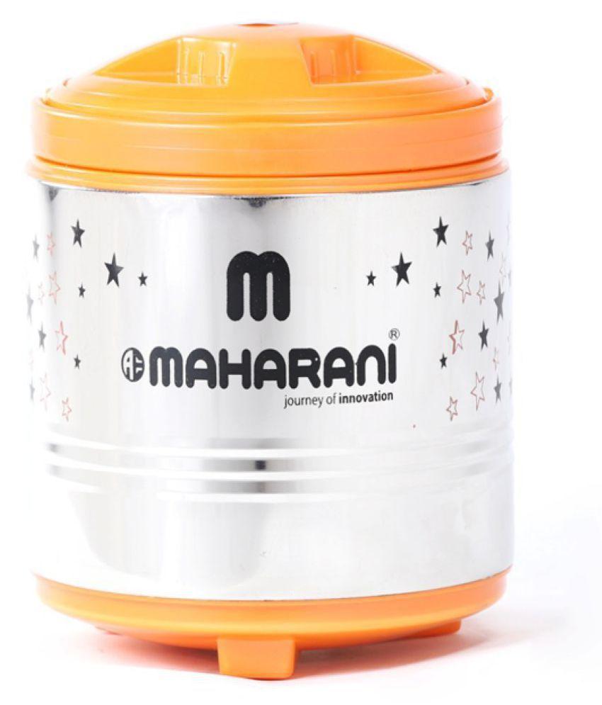 aeMAHARANI Orange Steel Lunch Box