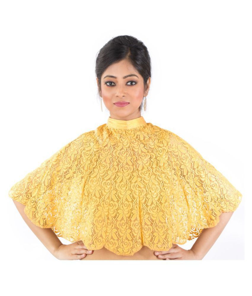 ABHI Gold Cotton Readymade with Pad Blouse