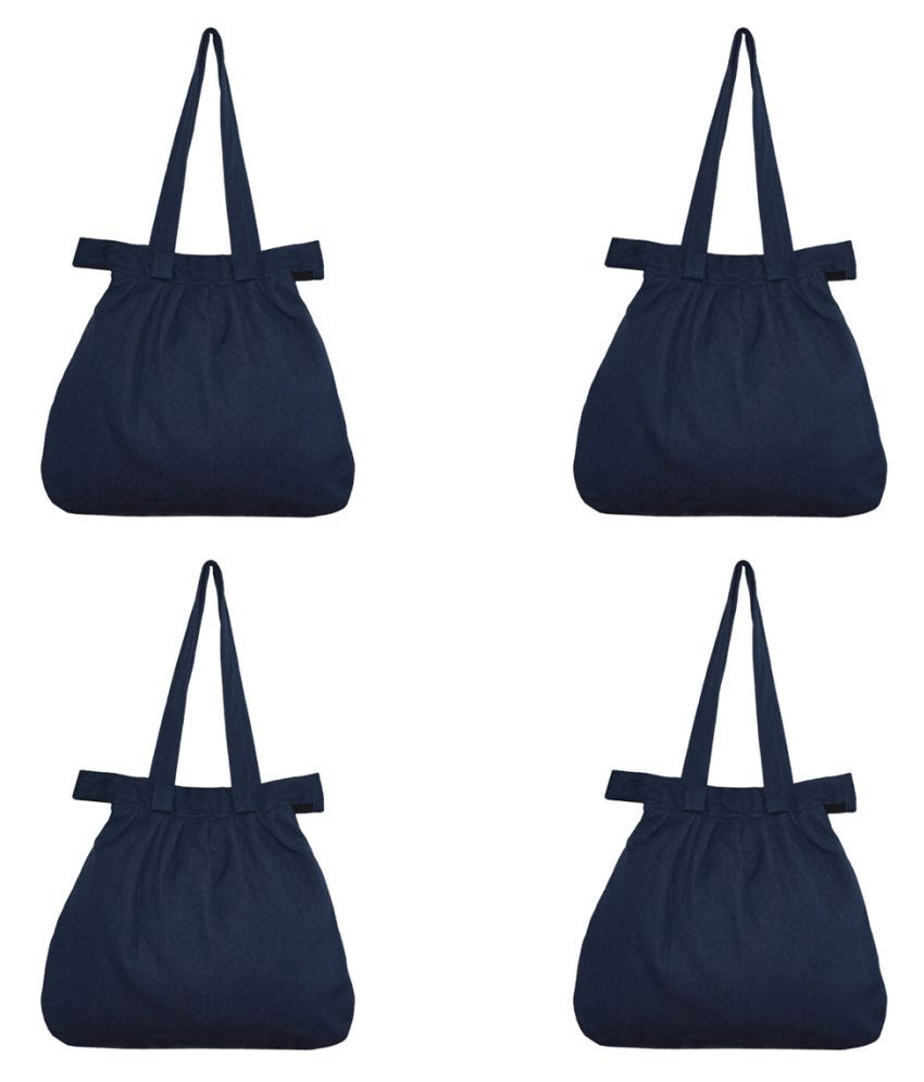 Rich&Rich Blue Cotton Shoulder Bag