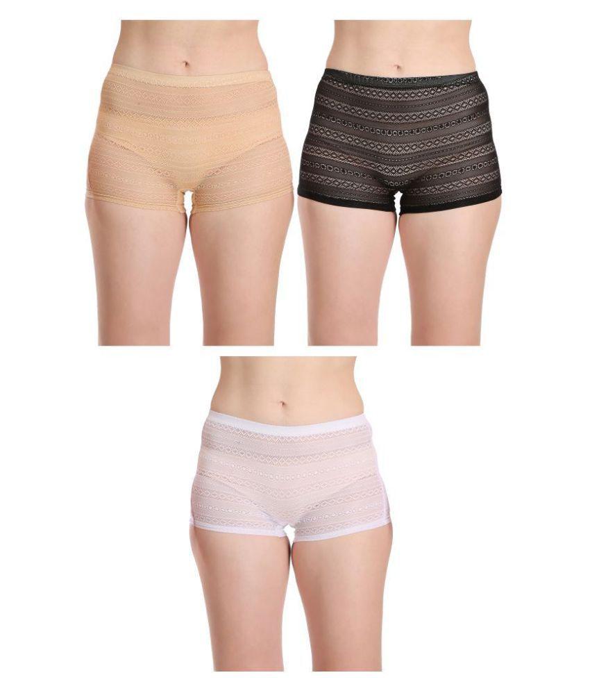 Selfcare Net/Mesh Boy Shorts