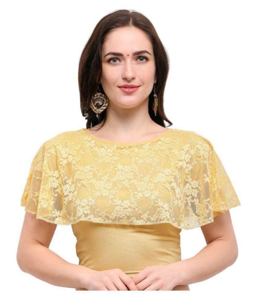 Janasya Gold Lycra Readymade without Pad Blouse