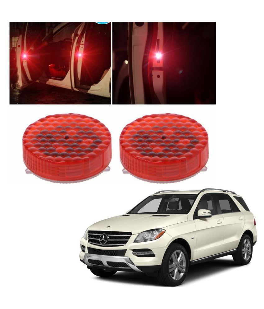 Auto Addict Waterproof 5 LED Wireless Car Door Warning Open Lights Indicator Decor Interior Flash Magnetic car led Lights for Anti Rear-End(RED) Free Batteries (2 Pair 4 pcs) For Mercedes Benz GLC-Class
