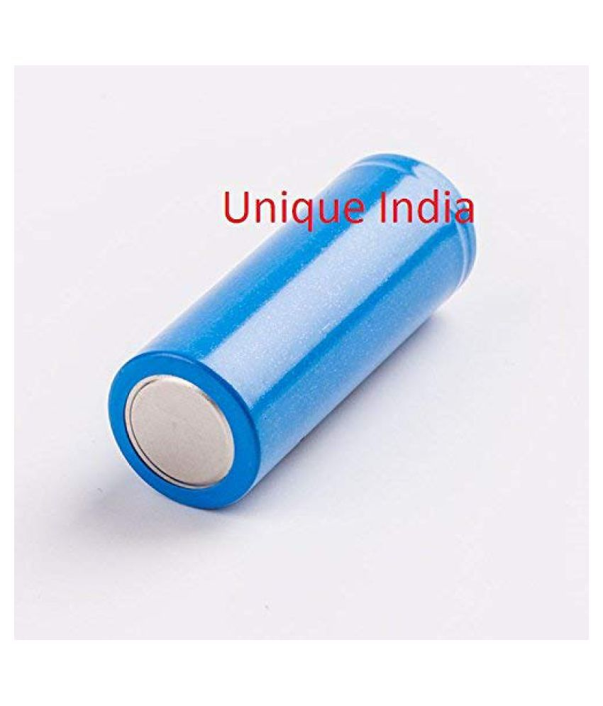 UNIQUE INDIA EEMB LIR18500 3.7V 1400mAh 5.18wh Li Ion Rechargeable Batteries with Flat Top Blue