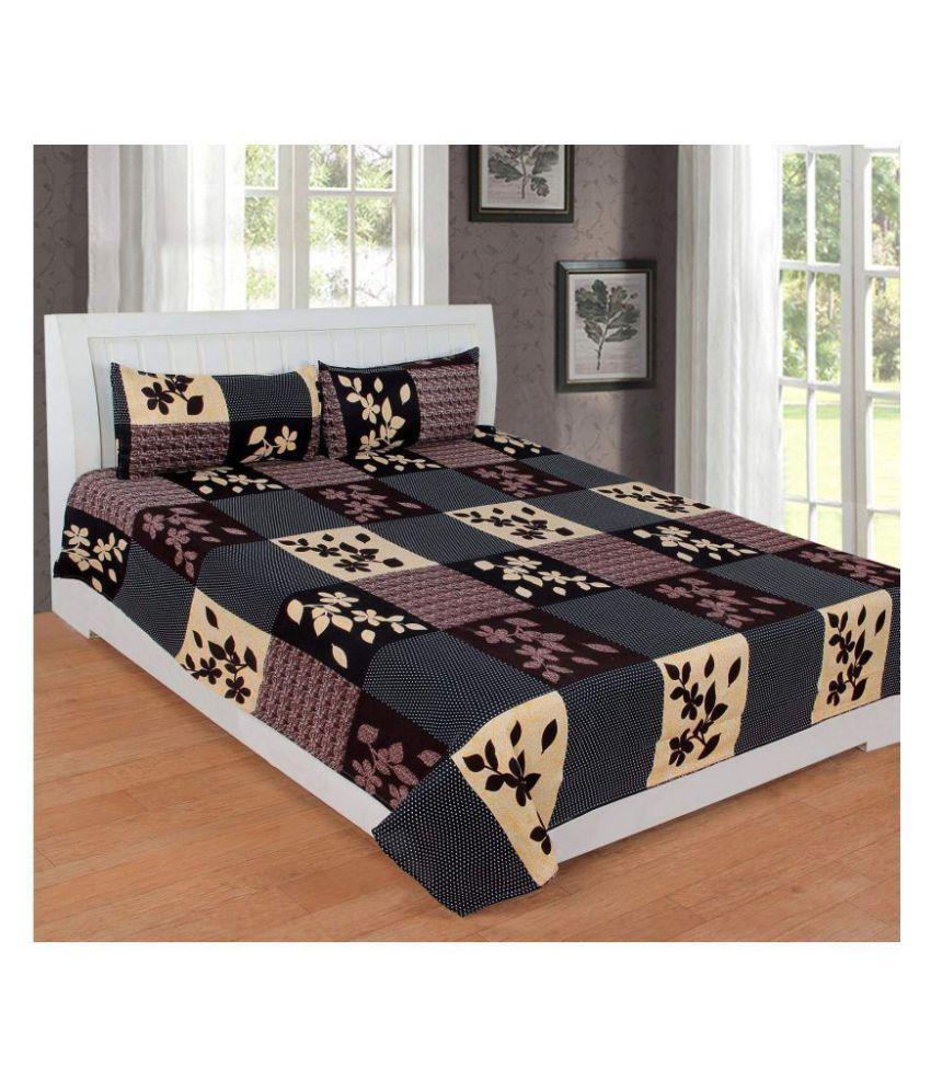 MORADO Microfibre Double Bedsheet with 2 Pillow Covers