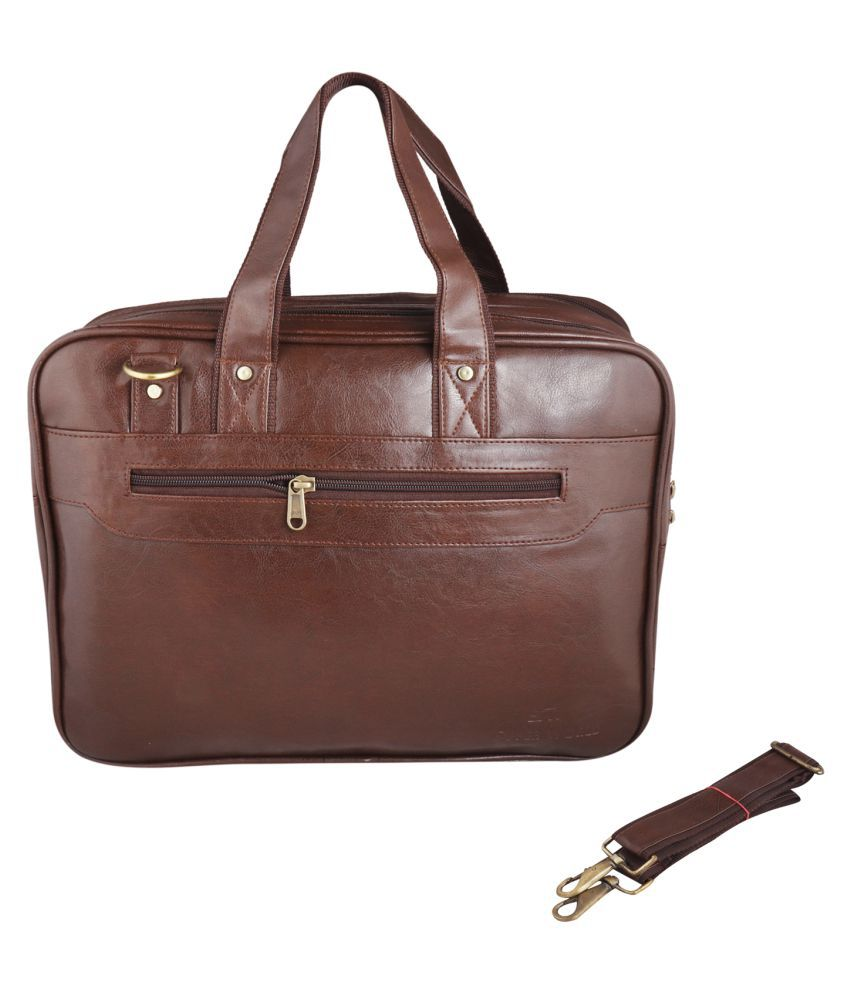SW Super World Stylish Brown Synthetic Casual Messenger Bag