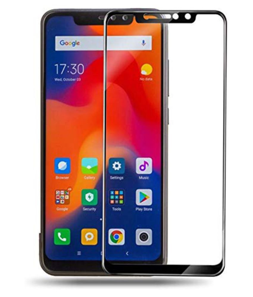 Xiaomi Redmi Note 6 Pro Tempered Glass Screen Guard By lenmax  Advance Screen Protector Technology