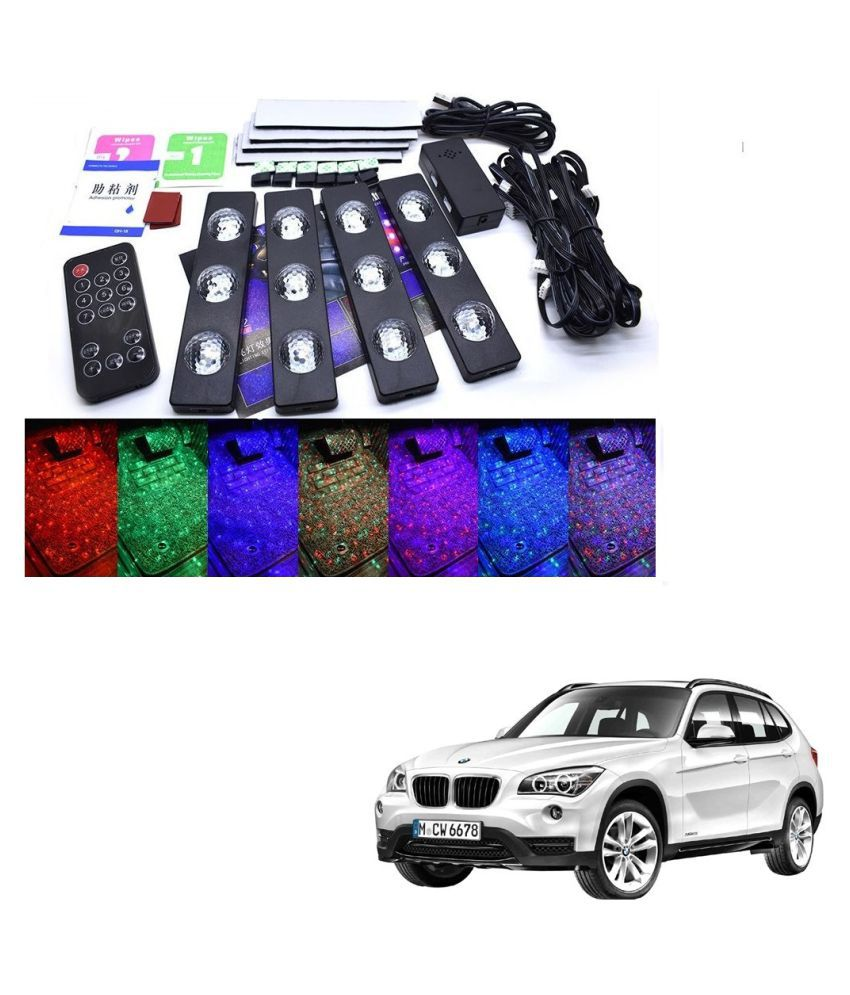Auto Addict The Starlights Of Car Seat Bottom,7 Colors Lights,Breathing,Voice Ctrl,Create a Different Landscape in The Car For BMW X1