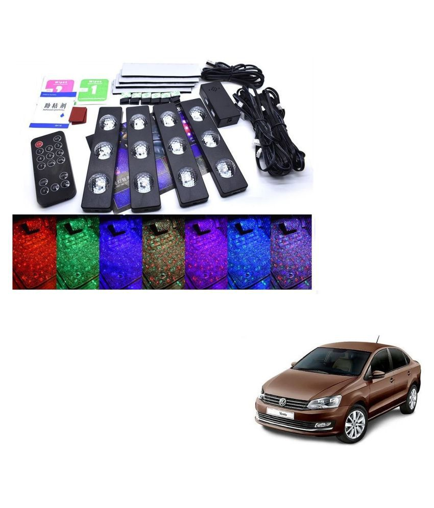 Auto Addict The Starlights Of Car Seat Bottom,7 Colors Lights,Breathing,Voice Ctrl,Create a Different Landscape in The Car For Volkswagen Vento