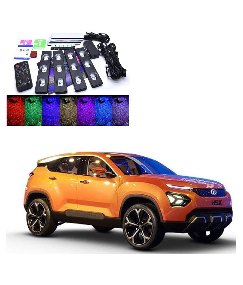 Auto Addict The Starlights Of Car Seat Bottom,7 Colors Lights,Breathing,Voice Ctrl,Create a Different Landscape in The Car For Tata Harrier H5X