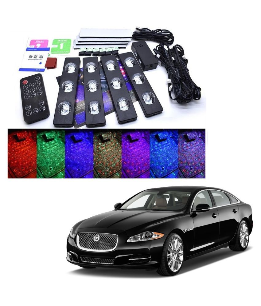 Auto Addict The Starlights Of Car Seat Bottom,7 Colors Lights,Breathing,Voice Ctrl,Create a Different Landscape in The Car For Jaguar XJ-TYPE
