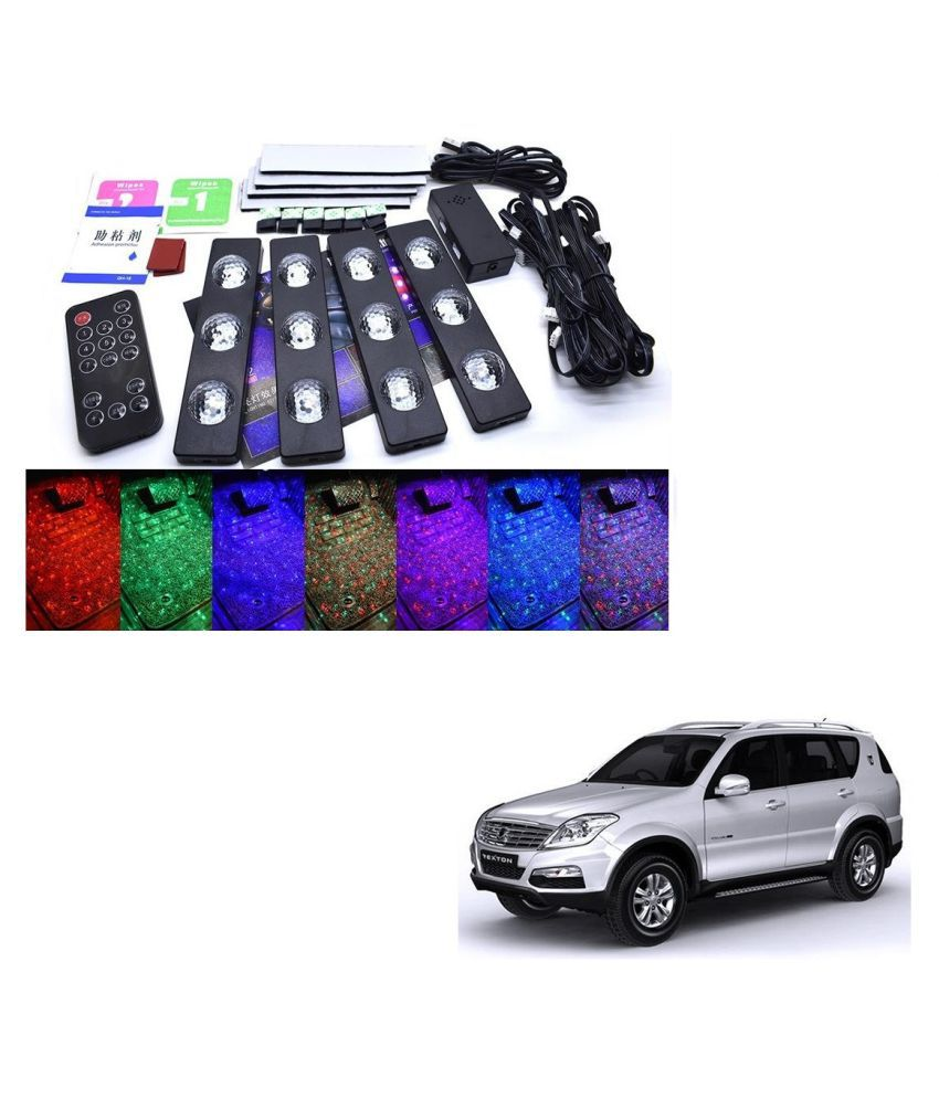 Auto Addict The Starlights Of Car Seat Bottom,7 Colors Lights,Breathing,Voice Ctrl,Create a Different Landscape in The Car For Mahindra Rexton