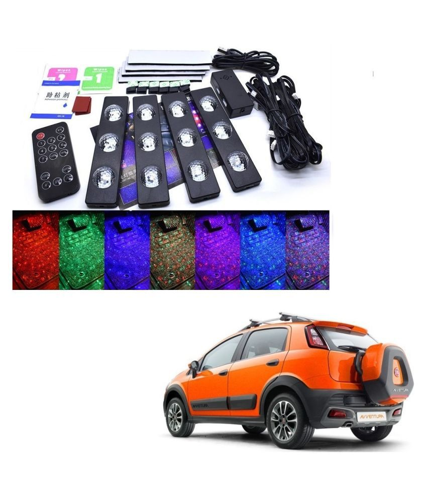 Auto Addict The Starlights Of Car Seat Bottom,7 Colors Lights,Breathing,Voice Ctrl,Create a Different Landscape in The Car For Fiat Avventura