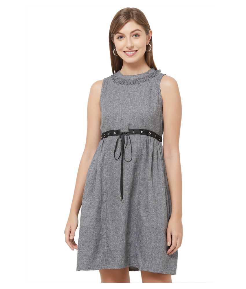 109 F Viscose Grey Regular Dress
