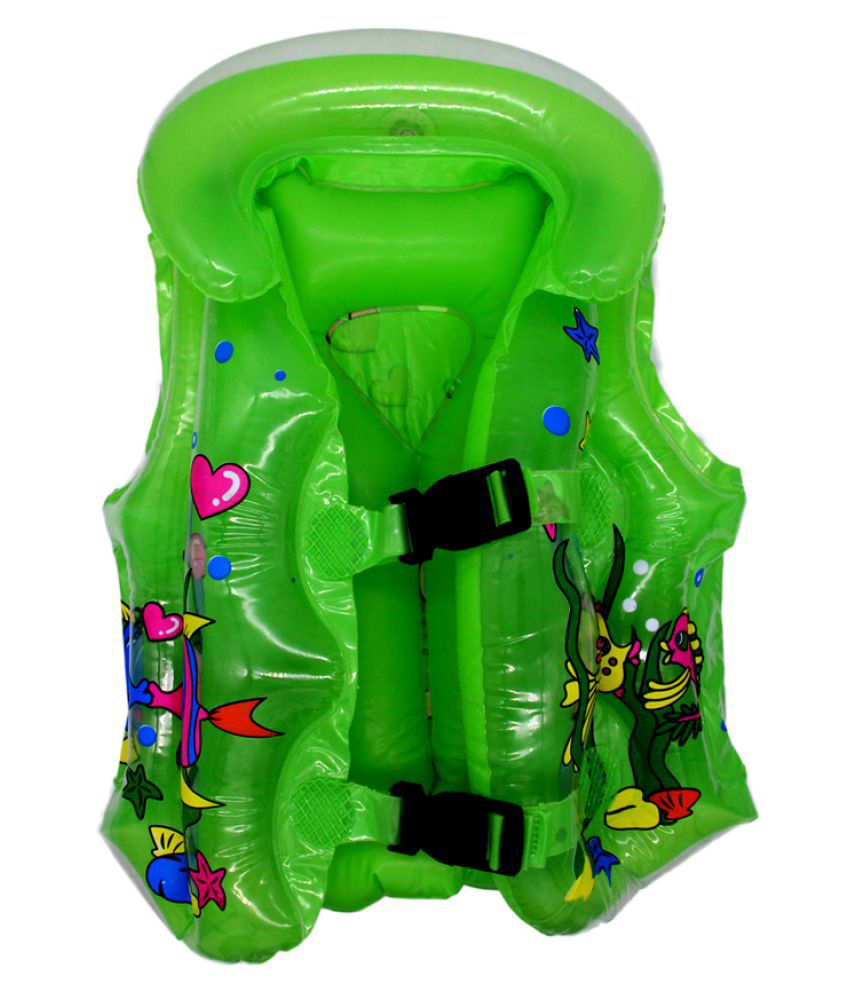 EZ Life Inflatable Body Vest Float for Swimming - Green - Sea Life - Small - 1 Pc - Age 1-3 Years
