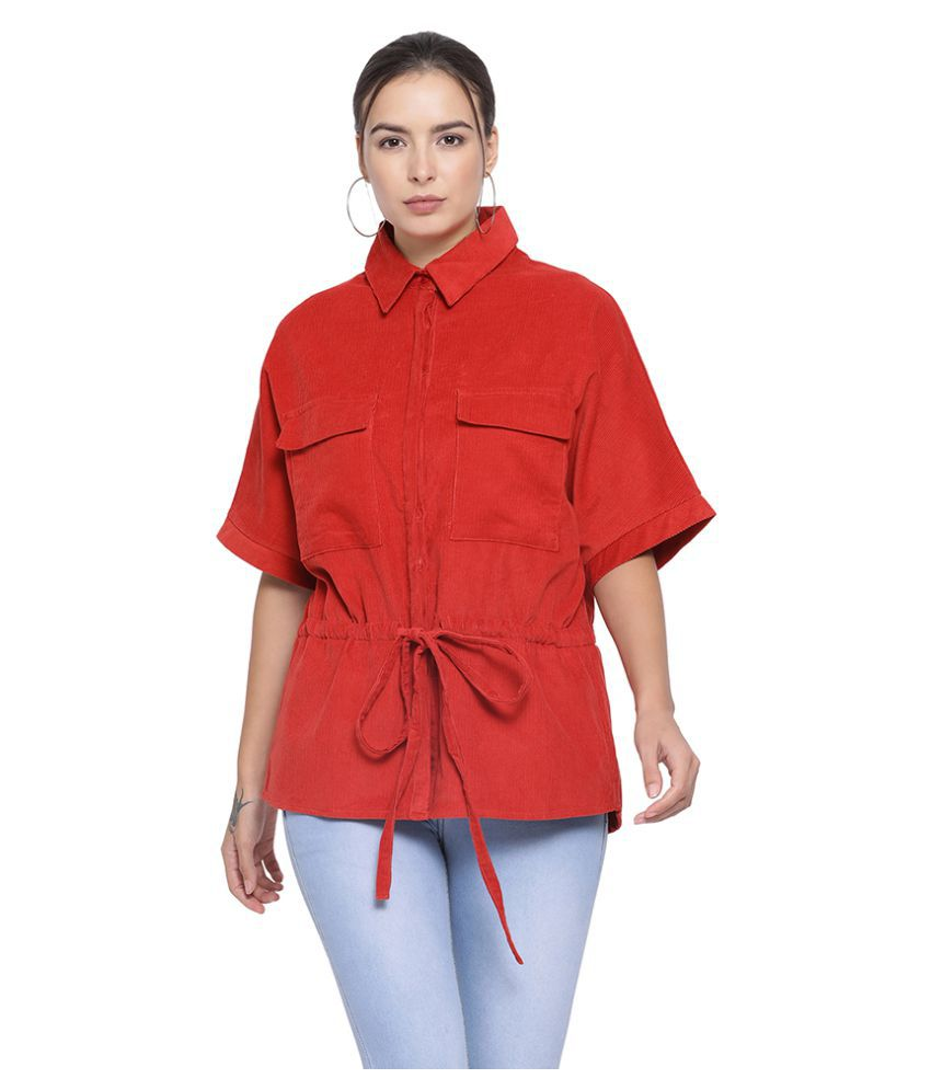 Oxolloxo Cotton Red Bomber Jackets