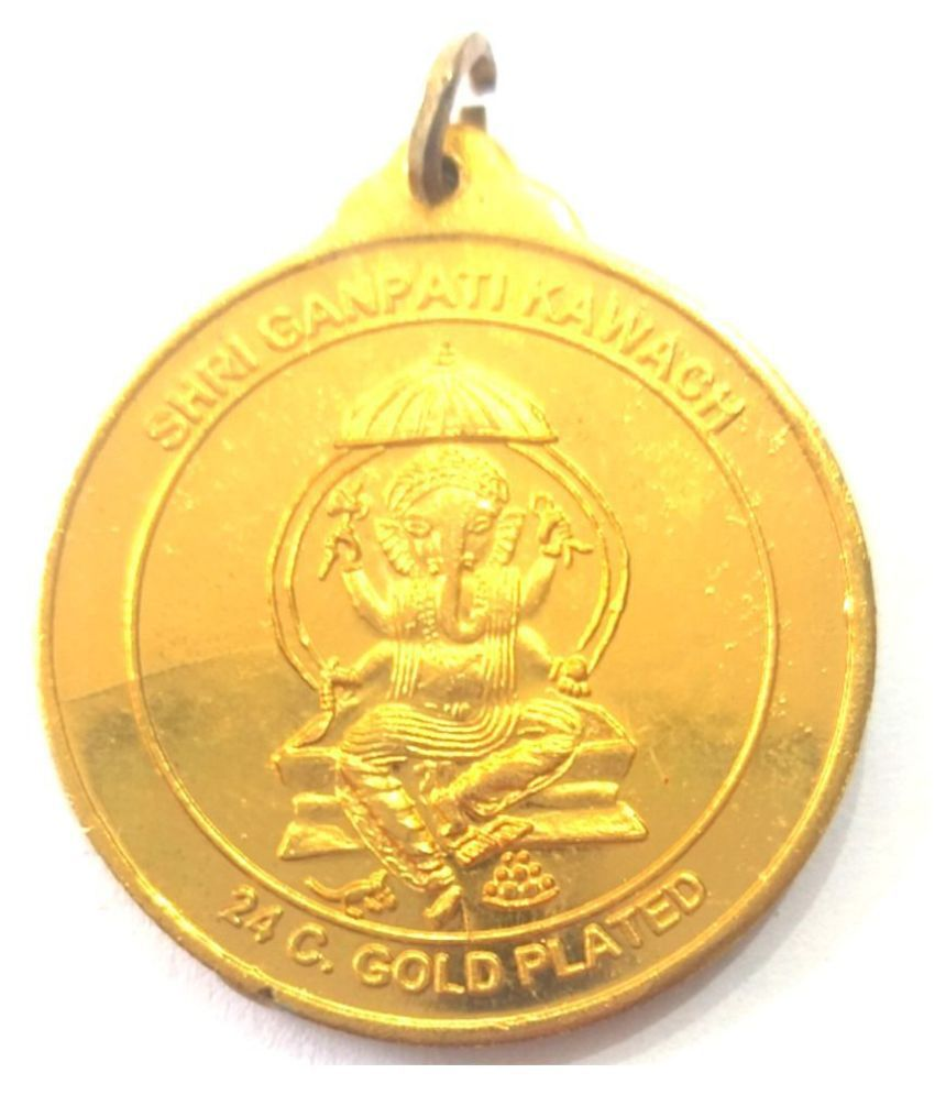 ganesh ji pendent/locket for sucess, health,financial crises,with silk dori.for men/boys