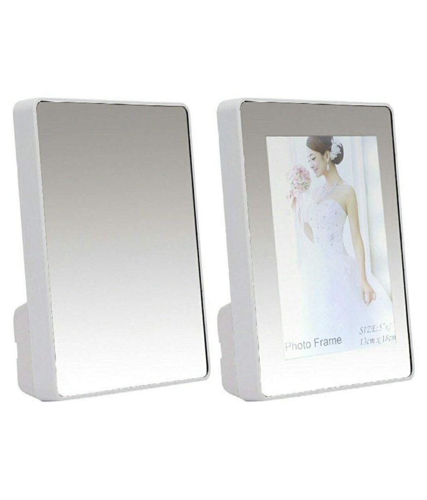 GoGrab Glass White Single Photo Frame - Pack of 1