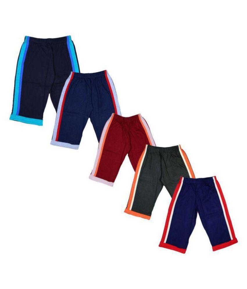 Mitwa's Trendy & Attractive Cotton Bermuda/Capri for kids,Pack of 5, Multicolored