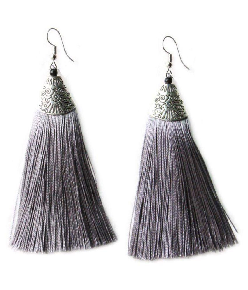High Trendz Stylish Jewellery Thread Tassel Fancy Party Wear Long Earrings