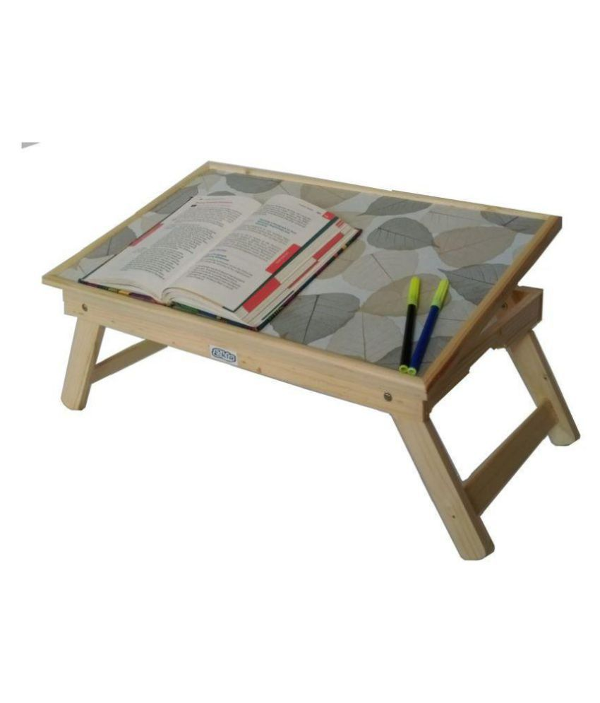 Ekta Product Wooden Folding Laptop Table Beige