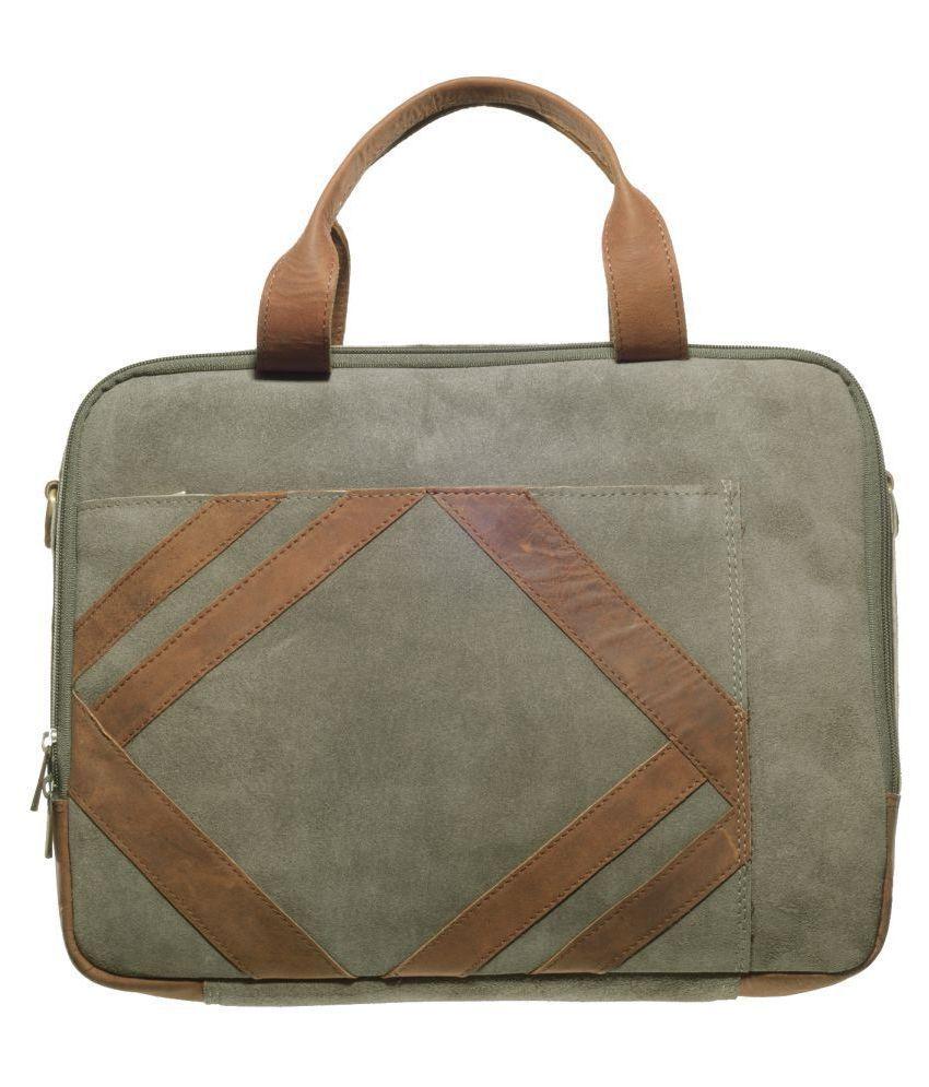Khadim's Grey Leather Office Bag