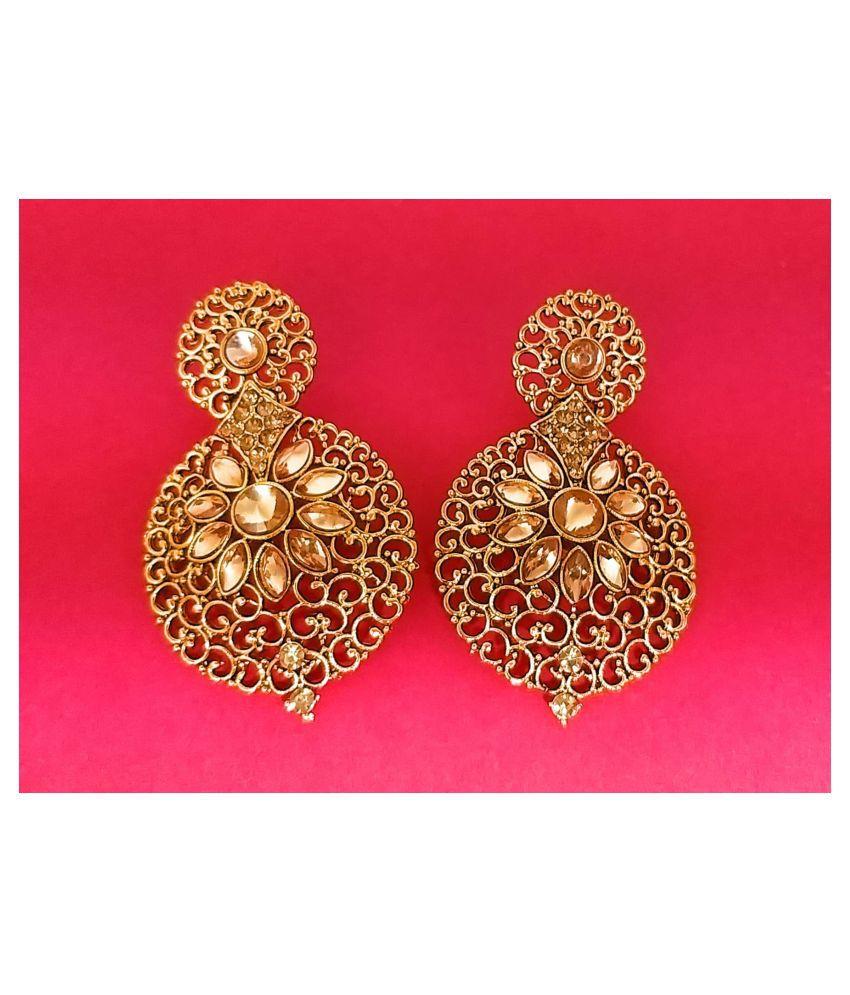 Handcrafted 22kt Gold Plated Meenakari work Earrings