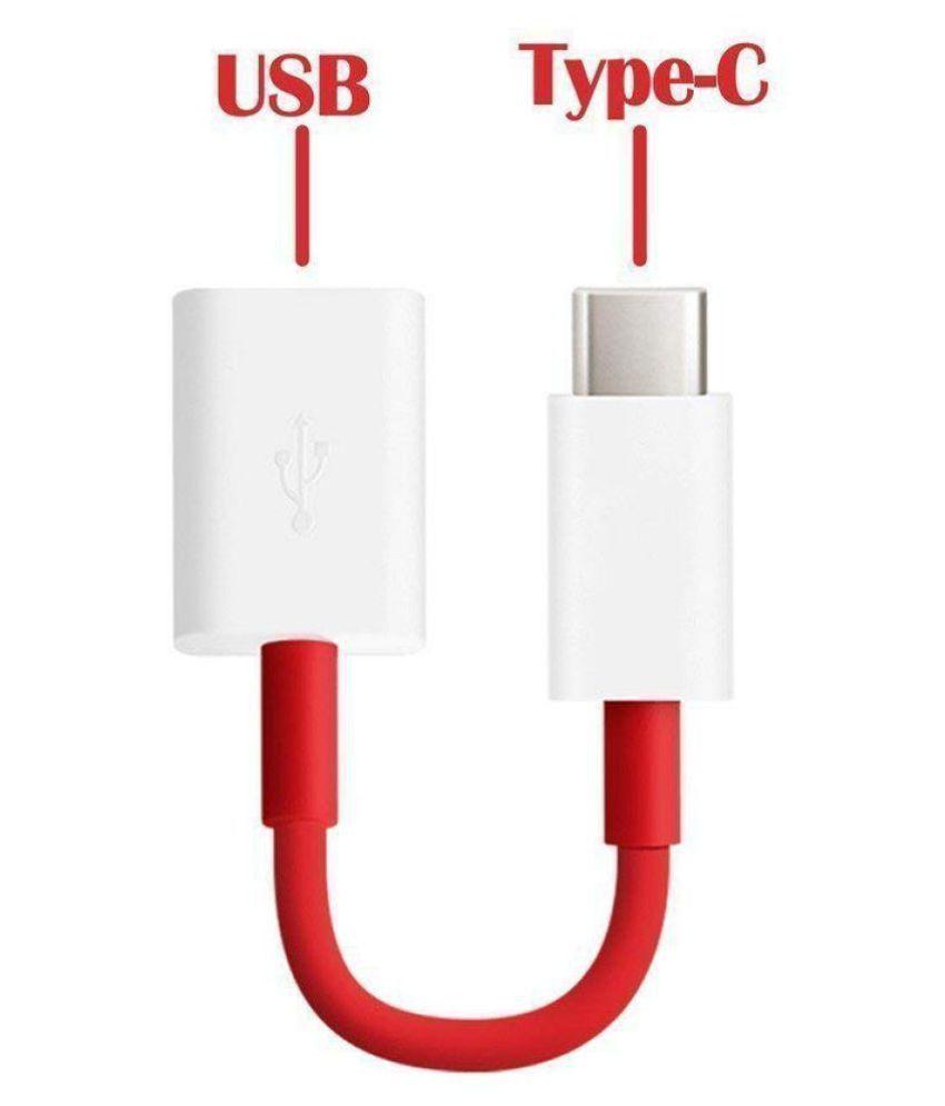 Bhavi Type C Otg For Oneplus Mobile Red  amp; White
