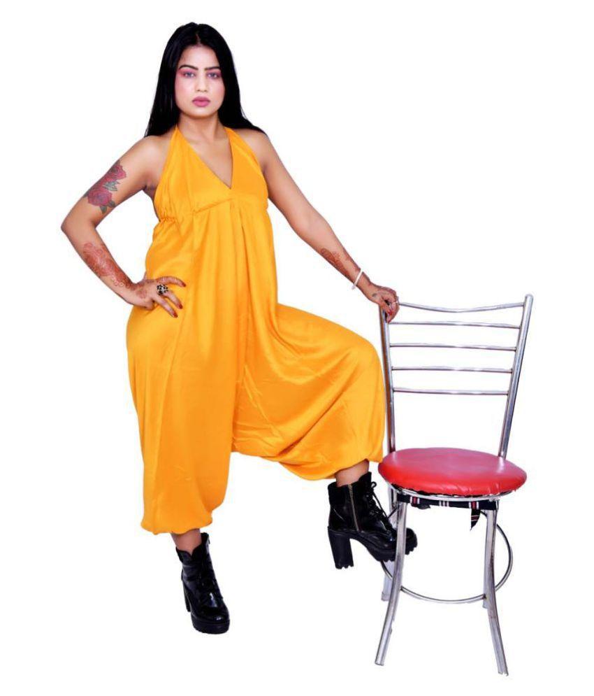 Balaji Garments Yellow Rayon Jumpsuit