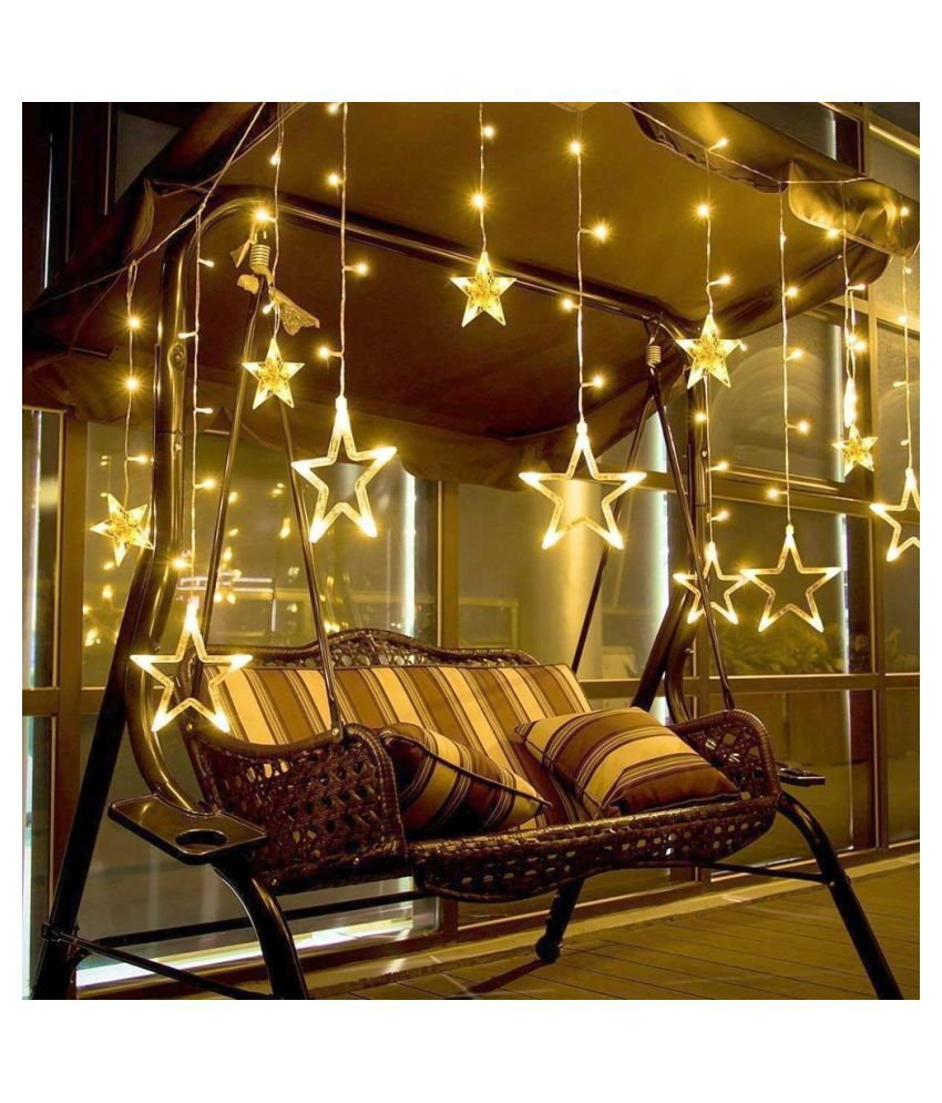MR 12 Star Led Light  Stars String Lights Yellow