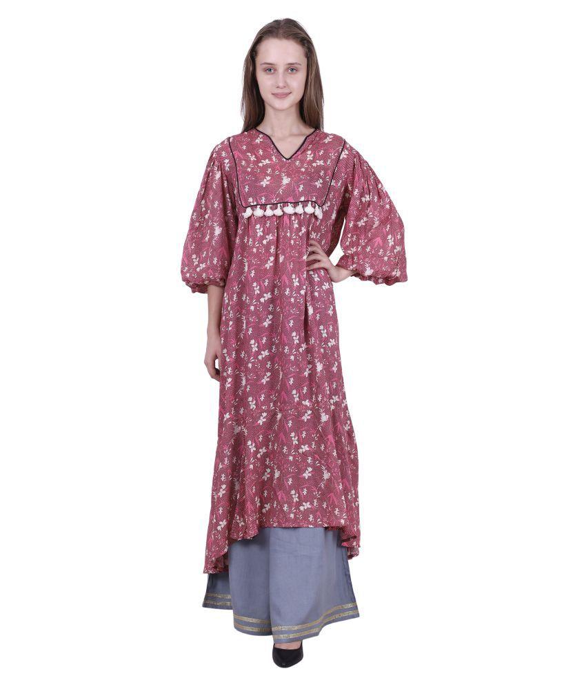 Reme Viscose Multi Color A- line Dress