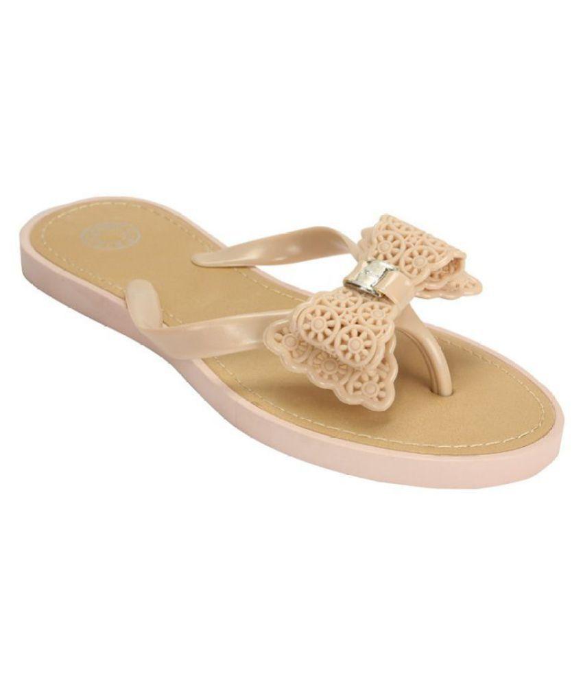 Flipside Beige Slippers