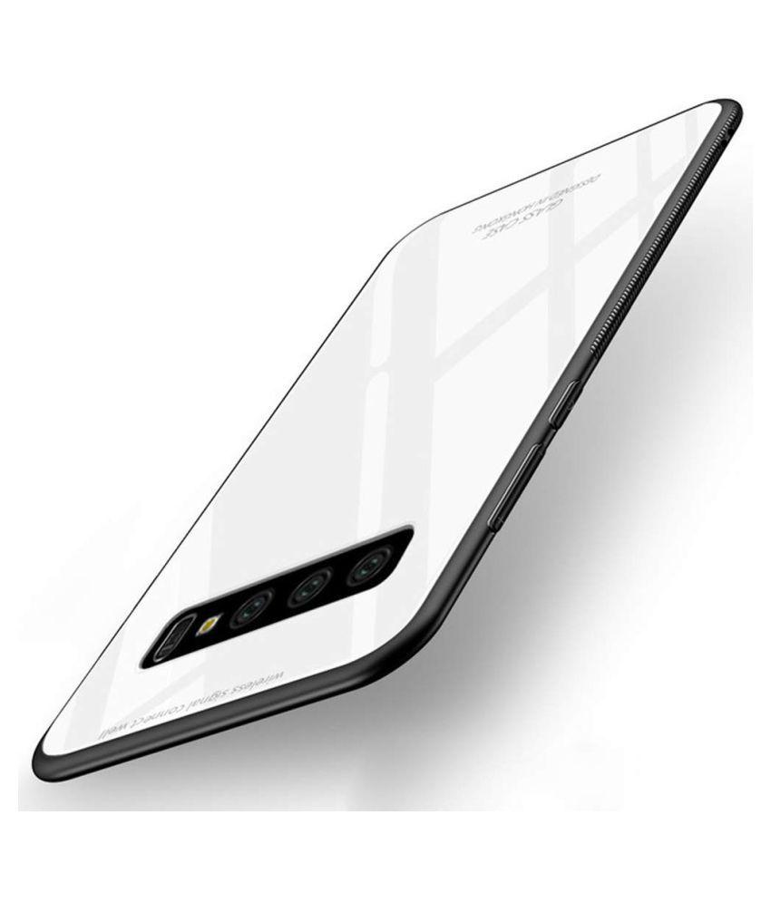 Samsung Galaxy S10 Plus Mirror Back Covers Designer Hub   White