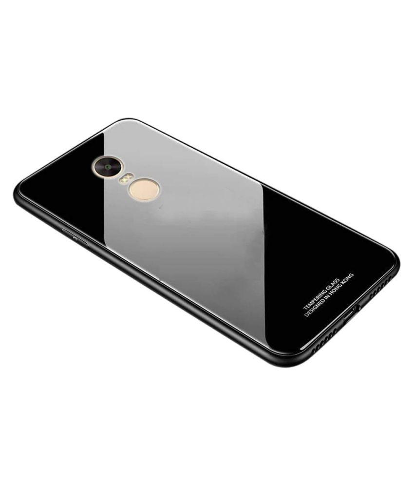 Xiaomi Redmi Note 4 Mirror Back Covers Designer Hub   Black