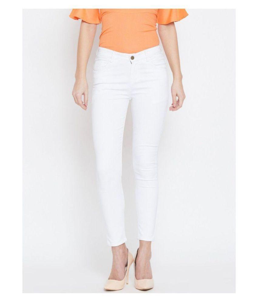 Bombay Clothing Company Cotton Lycra Jeans - White