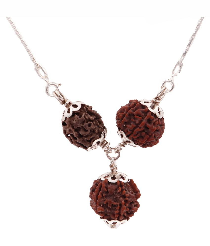 ARKAM Vyapaar Vridhi Kavacha (2 Mukhi, 6 Mukhi, 7 Mukhi Rudraksha) Brings growth and evolution in business with Silver Capping and Chain