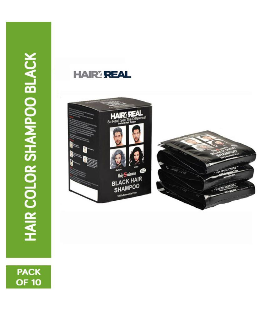 HAIR4REAL Instant 5 Minute Shampoo Temporary Hair Color Black 250 mL