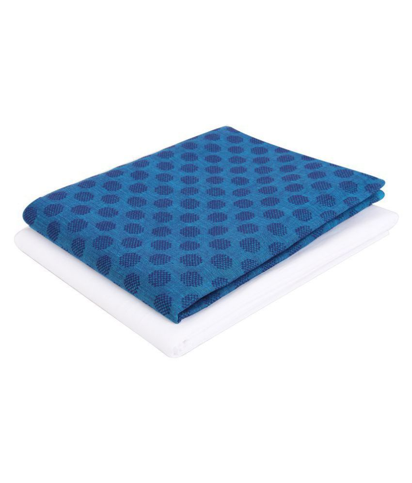 Maharaja Shirt Blue 100 Percent Cotton Unstiched Kurta Pyjama