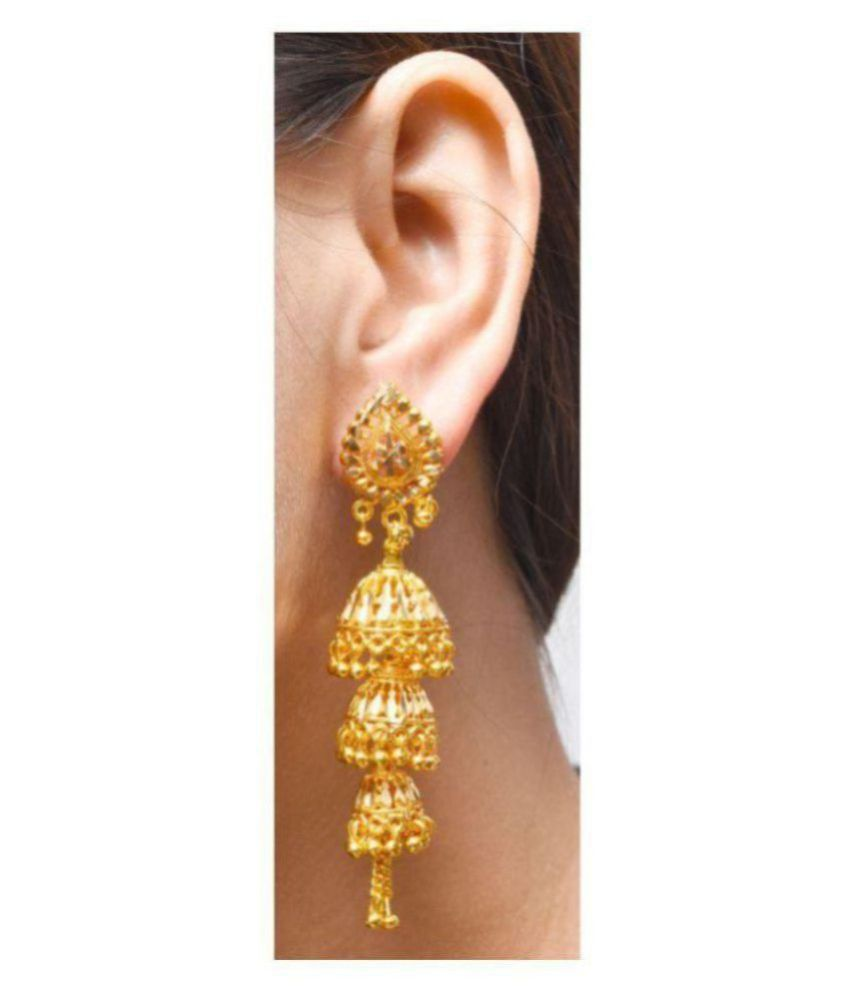 Darshini Designs Traditional Gold Plated Earrings For Women And Girls