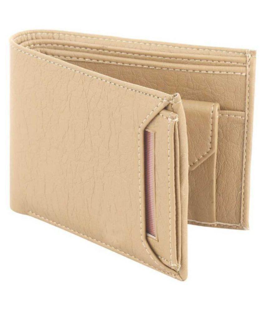DARK ROMANCE Faux Leather Beige Casual Passport Wallet