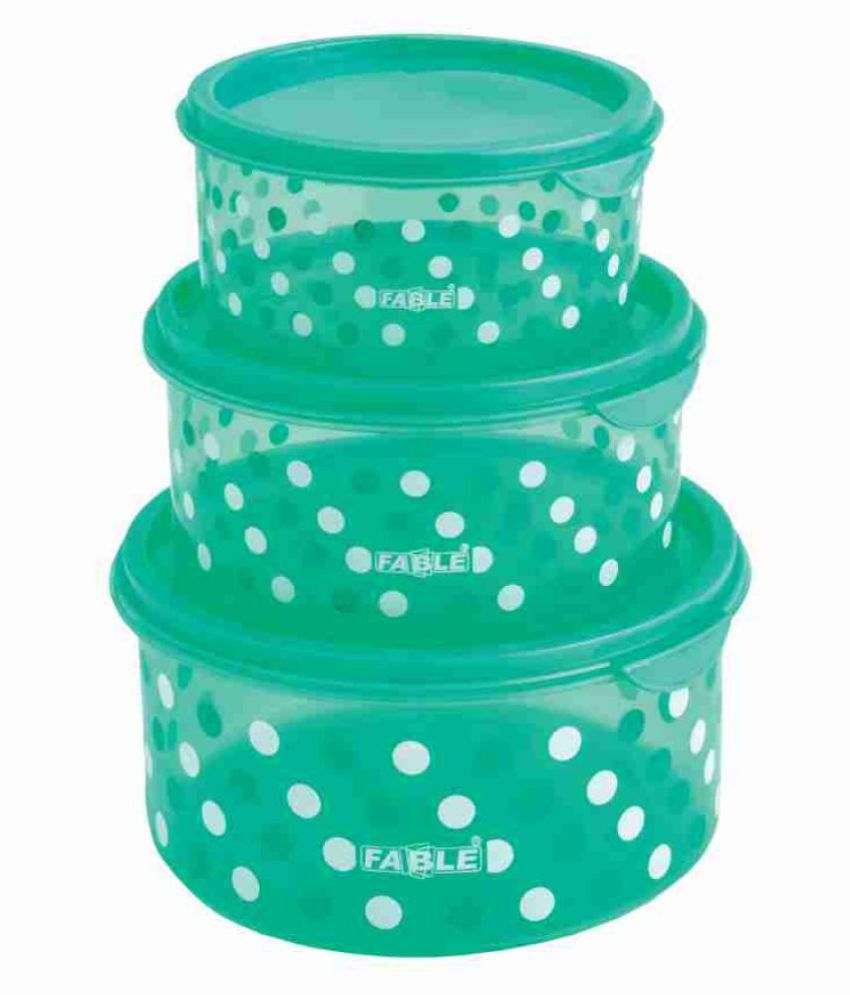 Fable PICNIC 3PC SET Polyproplene Food Container Set of 3 500 mL