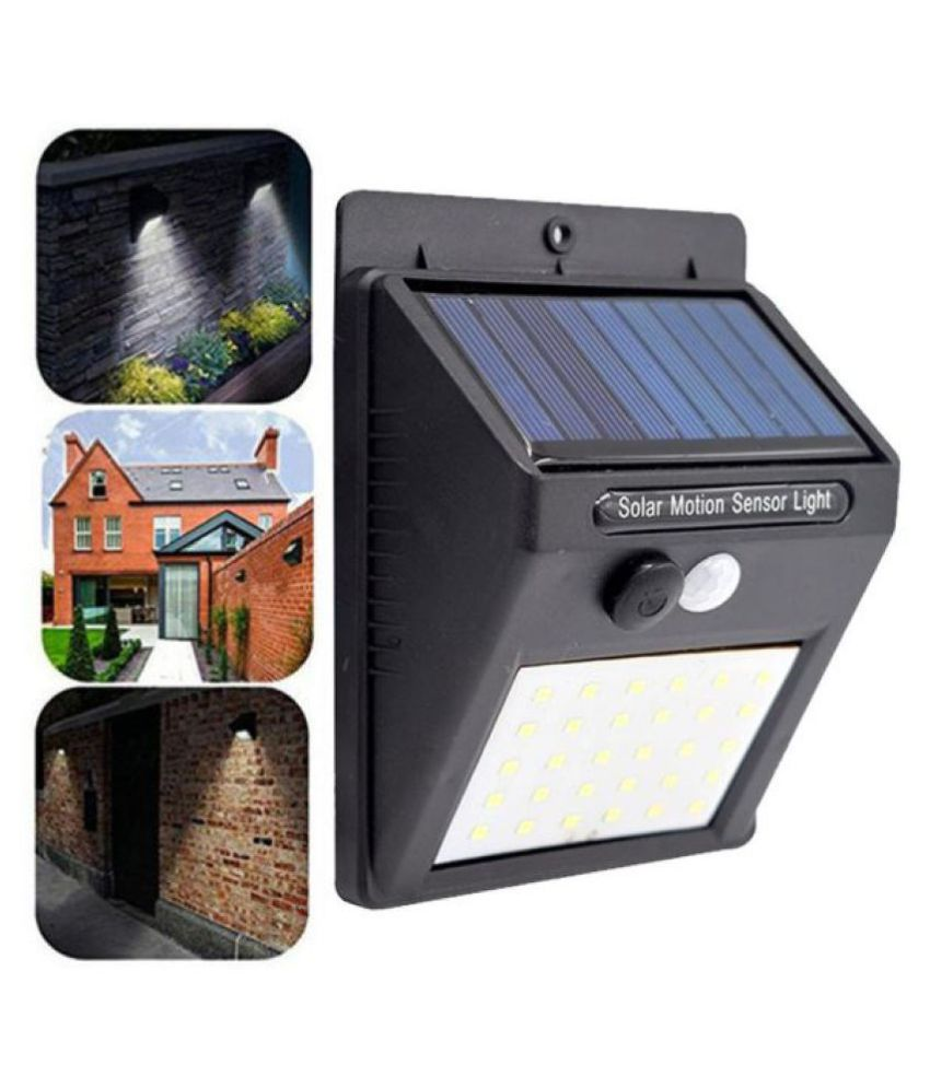 Green Essentials 0.5W Solar Outdoor Wall Light - Pack of 1