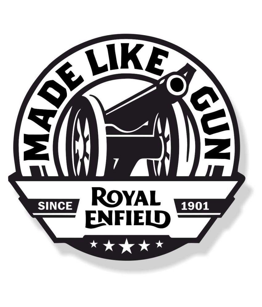 GeeTee Designs Royal Enfield Bullet In Car Sticker Multicolour