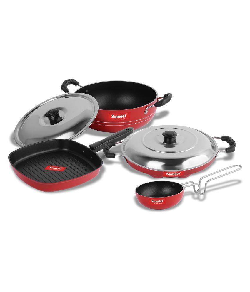 Sumeet Puka Nonstick 6 Piece Cookware Set