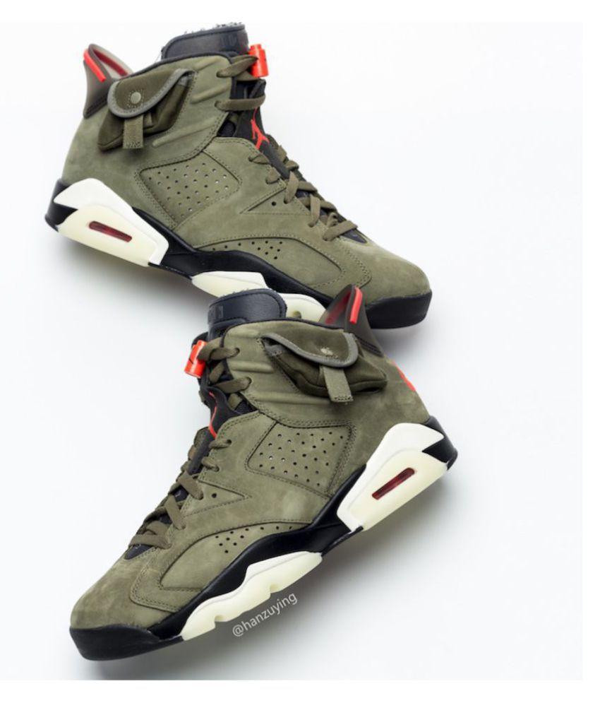 Nike JORDAN 6 MILITARY Green Basketball Shoes - Buy Nike JORDAN 6 ...