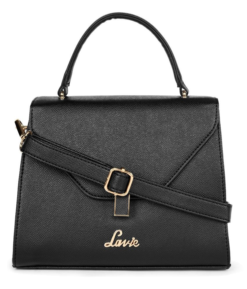 Lavie Black P.U. Satchel Bag