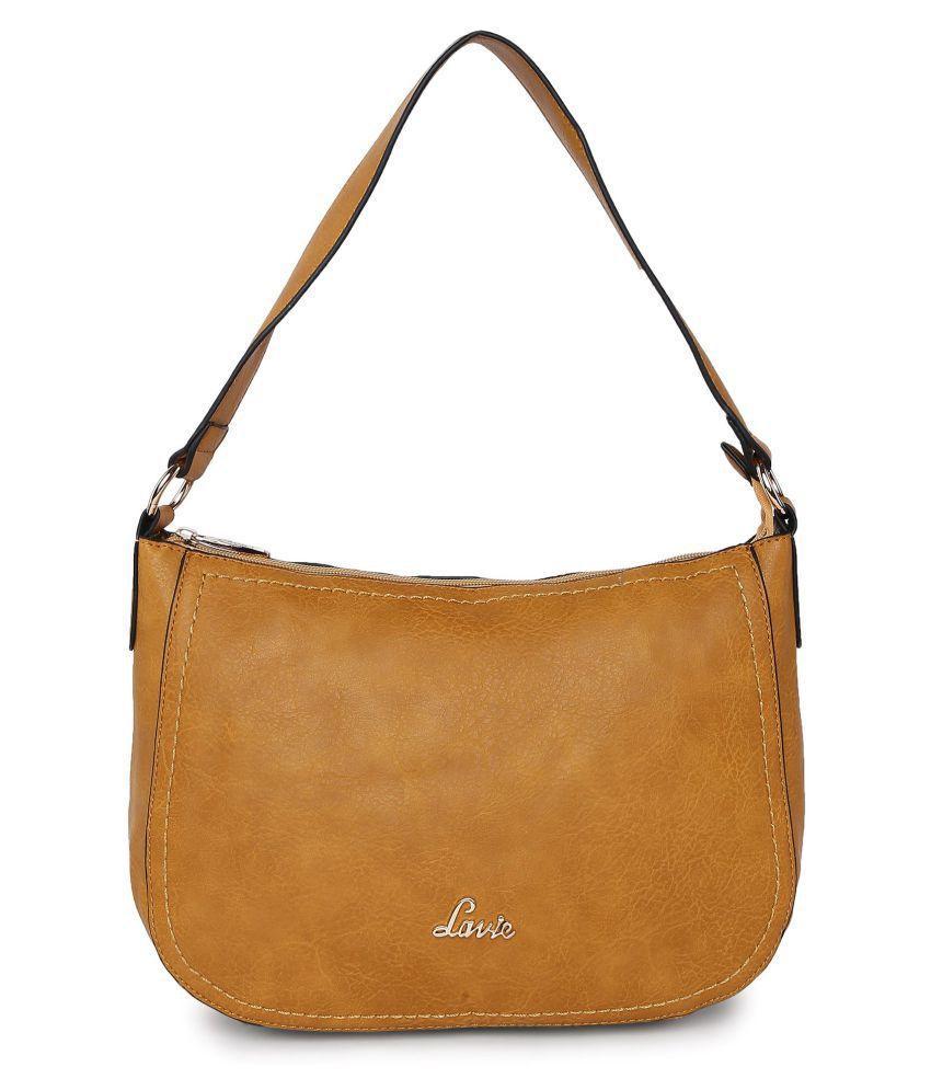 Lavie Yellow P.U. Hobo Bag