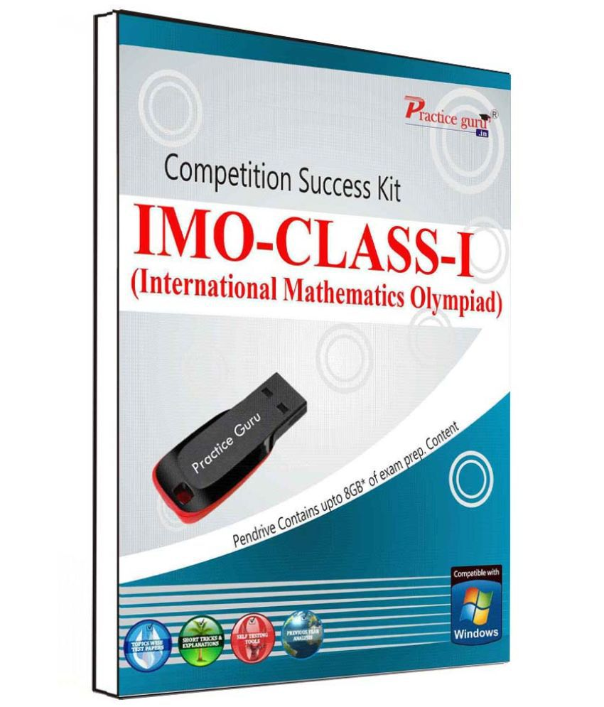 Practice Guru 85 Test 10 Mock Test,10 Previous Year Paper  for 1 Class IMO Exam  Pen Drive