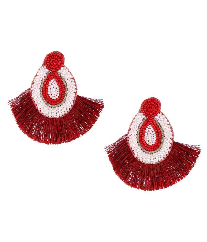 Handmade Dangle Fringe Earrings for Women