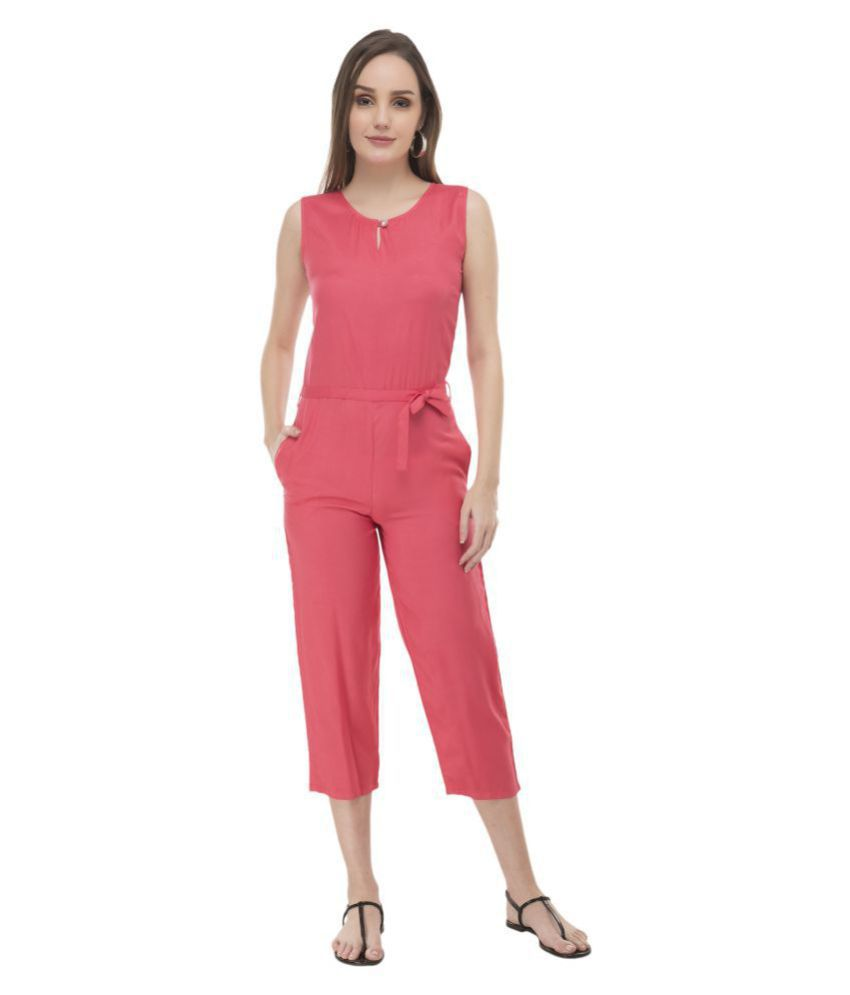 Cora Dora Pink Rayon Jumpsuit